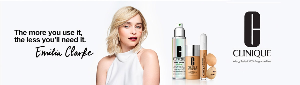 clinique header emilia clarke