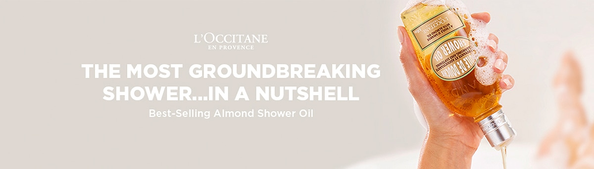 almond shower oil header