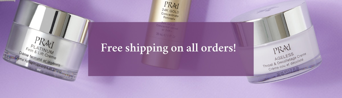 prai free shipping on all orders