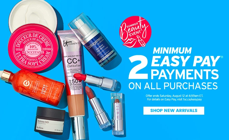 Summer Beauty Event - Minimum 2 Easy Pay Payments on all purchases