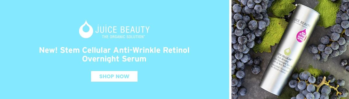 Juice Beauty New Stem Cellular Anti Wrinkle Retinol Overnight Serum launch