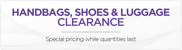 Handbags, Shoes & Luggage Clearance