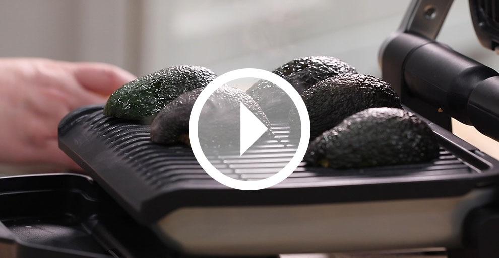 Grilled Avocado with Stuffed Quinoa - T-fal OptiGrill+