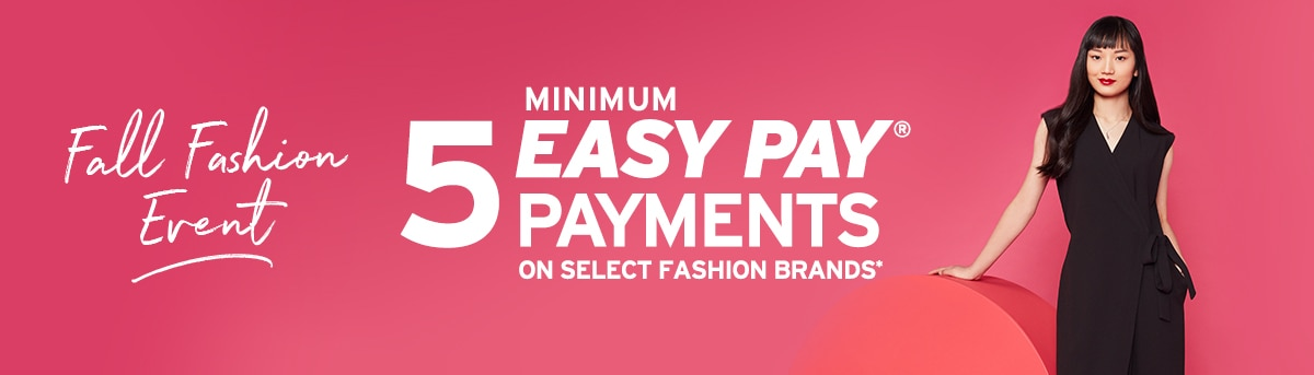 Fall Fashion: 5 Easy Pay Payments