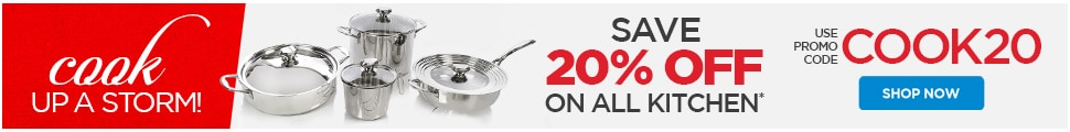20% off Kitchen & Tabletop