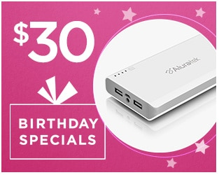Birthday Specials: Aluratek Portable Battery Charger