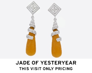 Jade of Yesteryear - Jade P Shape Drop Earrings