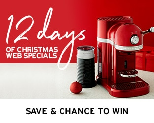 12 Days of Christmas: KitchenAid Nespresso Coffee Machine with Frother