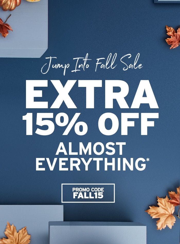 Jump into Fall: Extra 15% off almost everything
