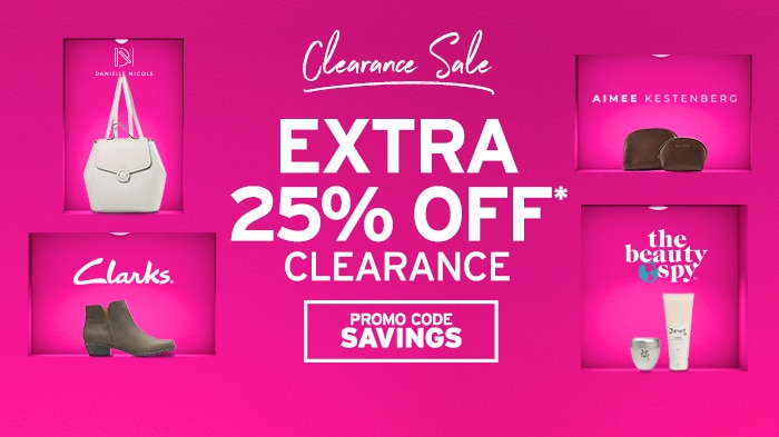 Clearance Sale: Extra 25% off