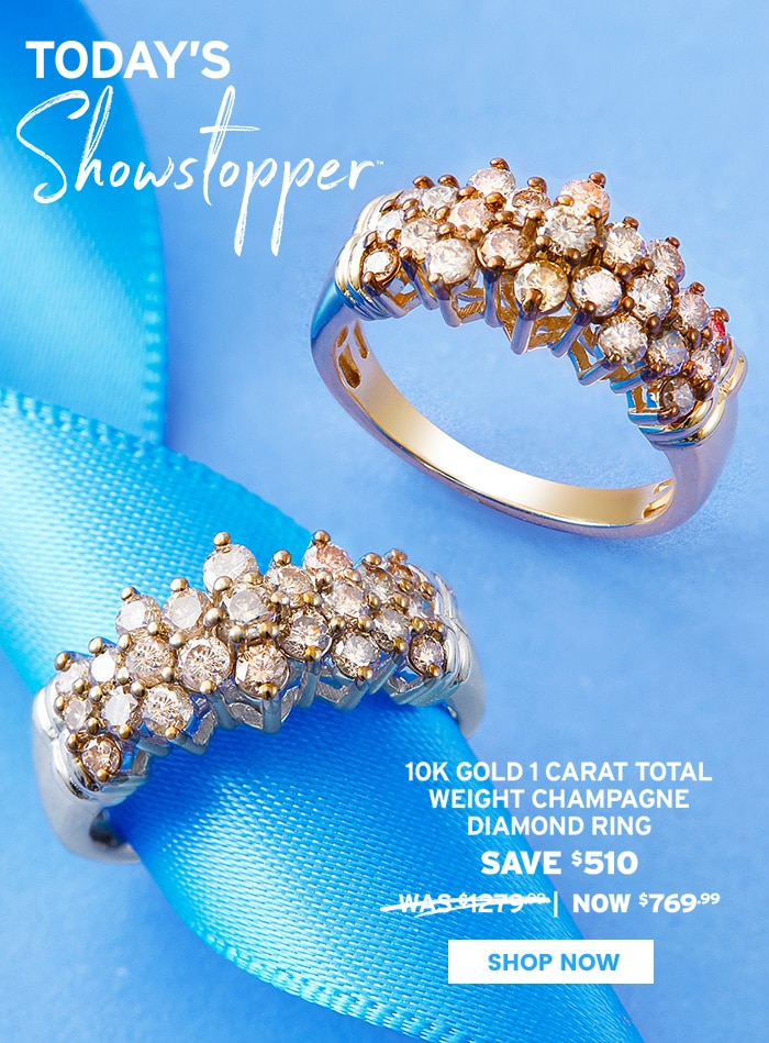 TODAY'S SHOWSTOPPER™ - 10K Gold Diamond Ring