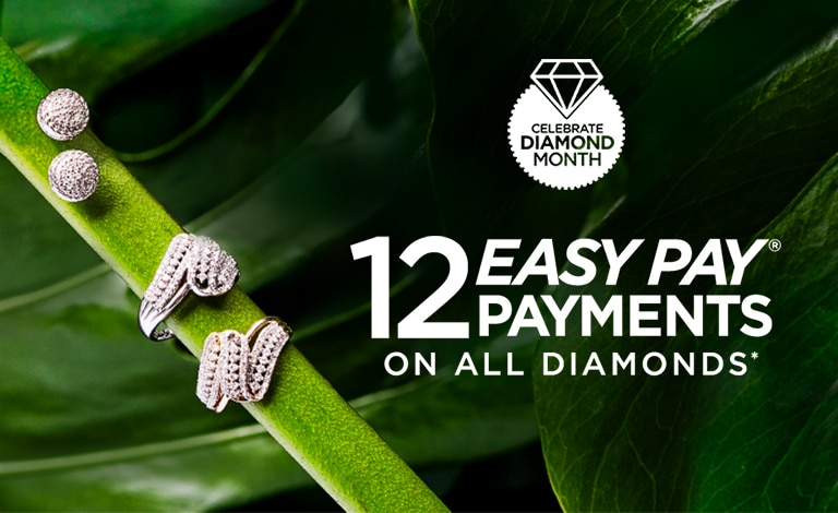 12 Easy Pay Payments on all Diamonds