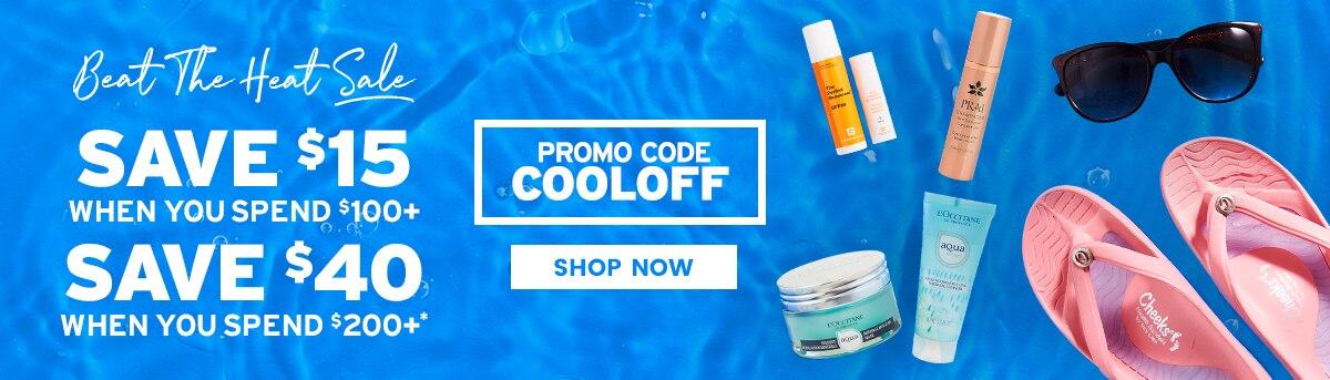 Beat the Heat Sale Promo Code COOLOFF