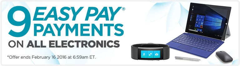9 Easy Pay Payments on All Electronics