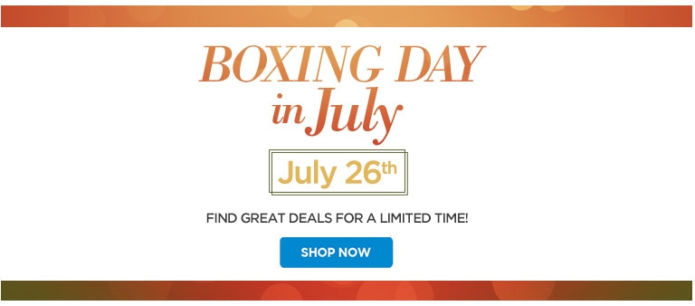 Boxing Day in July Sales